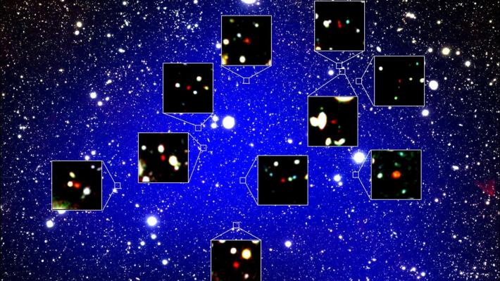 γαλαξιακό σμήνος Η «Αυλή της Βασίλισσας» (Πηγή: NAOJ - Harikane et al)