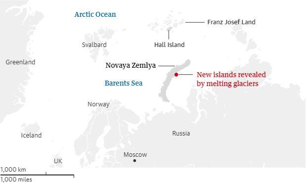 Το λιώσιμο των πάγων αποκάλυψε πέντε νέα νησιά στην Αρκτική