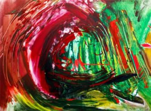 Δήμητρα Φακάρου, Once upon a time...a forest, 70x100cm, Ακρυλικά και τέμπερες σε καμβά