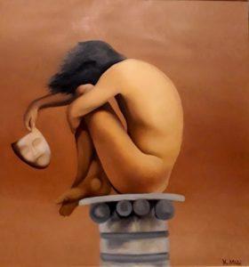 Κέλη Μελά, Δαβίδ, 110x100cm, Λάδι σε καμβά