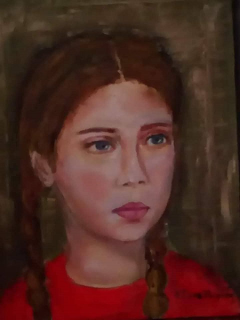 Κατερίνα Σακελλαρίδη, Αθωότητα, 40x30cm, Λάδι σε καμβά