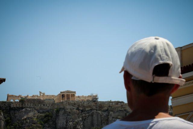 Αθήνα στιγμιότυπο ζέστης- καυσωνα