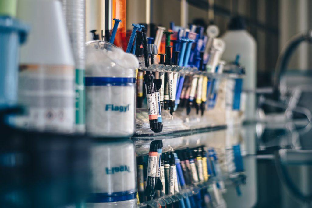 Εργαστήριο, γιατροί, αίμα