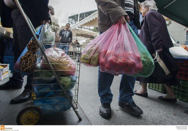 Λαϊκή αγορά, πλαστική σακούλα, σακούλες