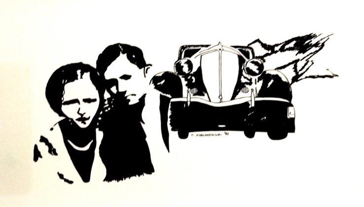 Κατερίνα Ξαρχοπούλου, Bonnie and Clyde, μελάνι σε χαρτί