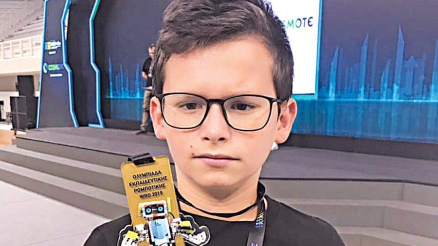 Ο 11χρονος που κατέκτησε το χάλκινο μετάλλιο στην Ολυμπιάδα Ρομποτικής
