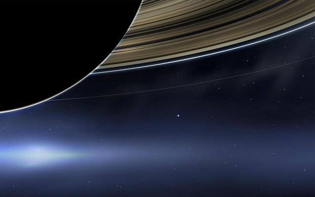 Η Γη όπως φαίνεται από τον Κρόνο
