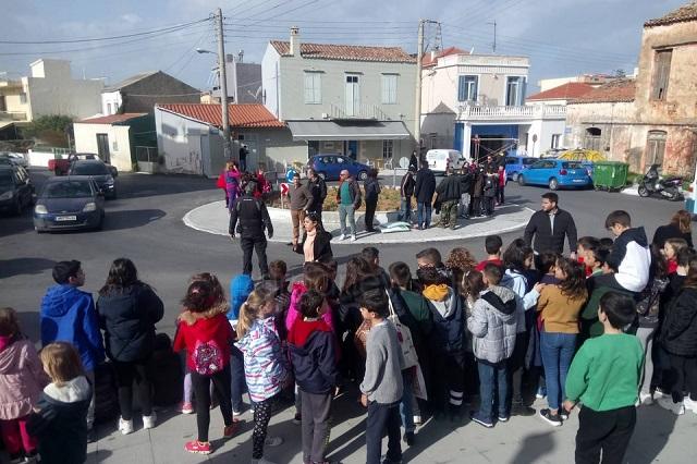 Χανιά: Μαθητές συμμετείχαν σε δράση φύτευσης στον κόμβο της Ευαγγελίστριας