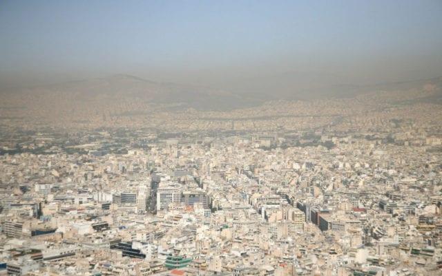 ατμοσφαιρική ρύπανση στην Αθήνα