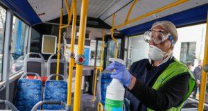 Aπολύμανση στις αστικές συγκοινωνίες Θεσσαλονίκης