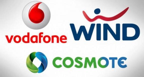 vodafone wind cosmote logo