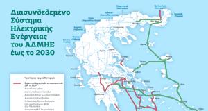 Χάρτης ΕΡΓΑ ΑΔΜΗΕ 2021 2030