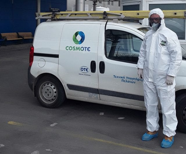 COSMOTE: Τεχνικοί και πελάτες μαζί στη μάχη κατά του κορωνοϊού