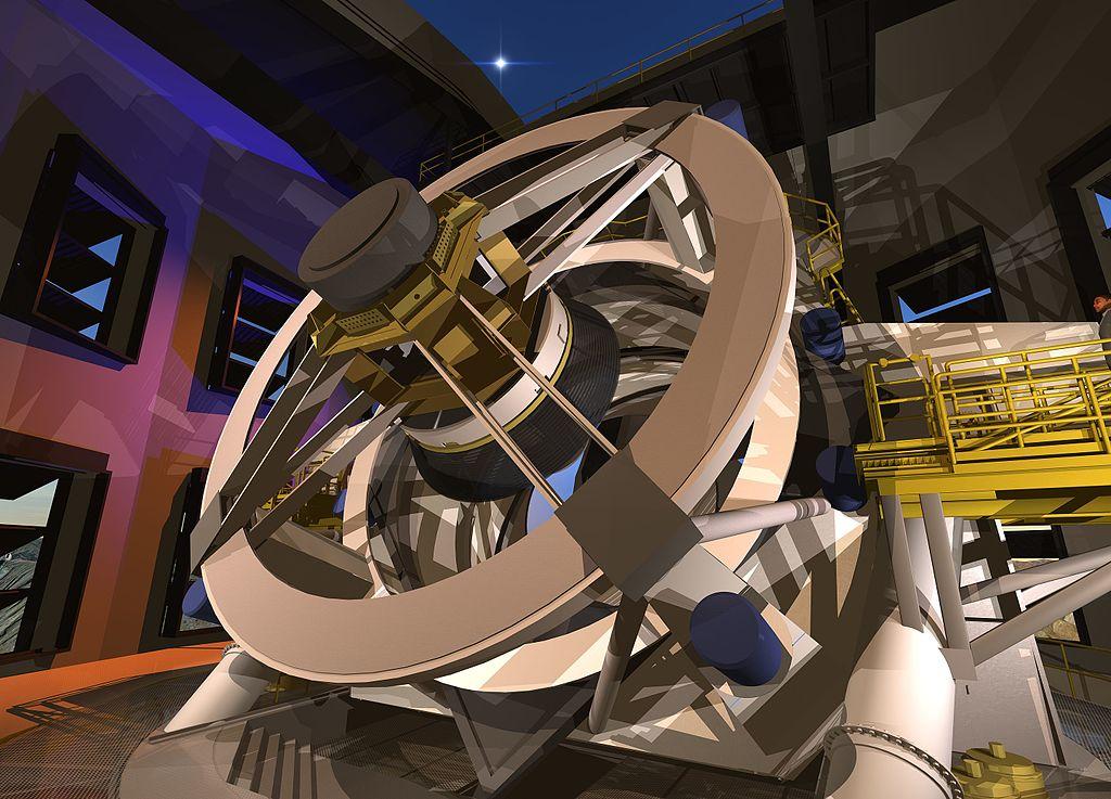 Κοντινό του τηλεσκοπίου μέσα στο θόλο