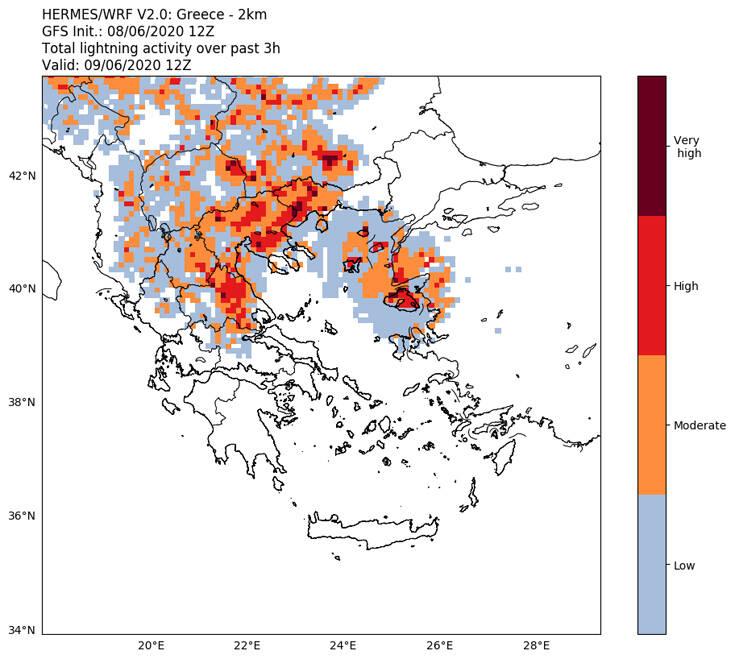 Βροχές, καταιγίδες και κεραυνοί αναμένονται σήμερα - Χάρτες και περιοχές