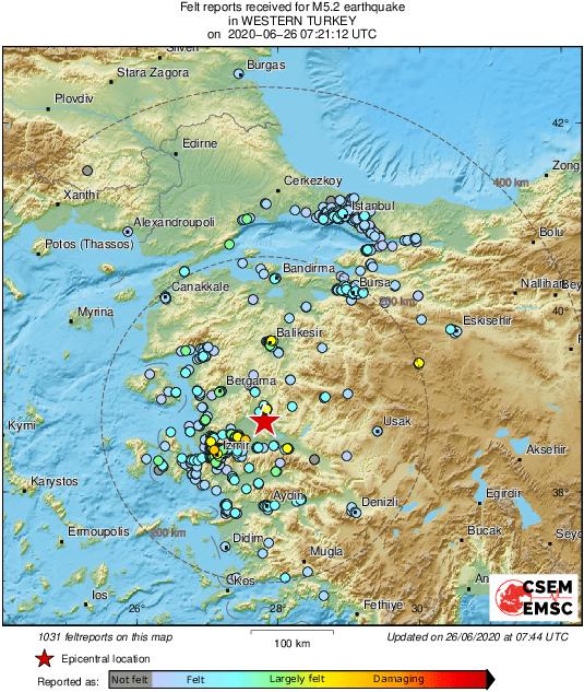 Ισχυρός σεισμός 5,1 Ρίχτερ στην Τουρκία - Αισθητός σε ελληνικά νησιά