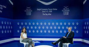 Ο Γενικός Γραμματέας του ΕΟΤ, κ. Δημήτρης Φραγκάκης, στο Οικονομικό Φόρουμ των Δελφών 2020