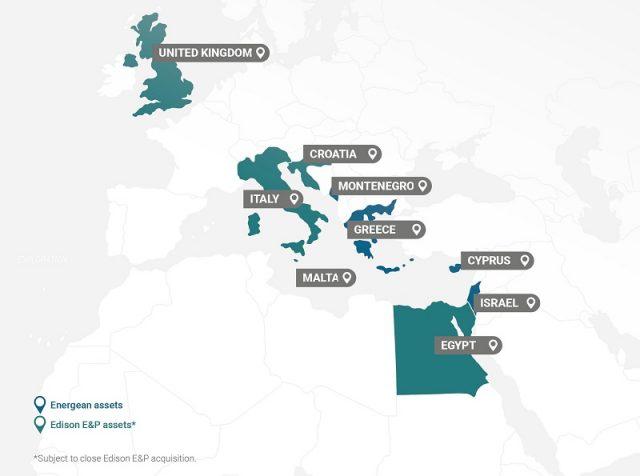 Energean + Edison E&P map