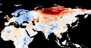 Modis/NEO/Nasa αλλαγή θερμοκρασίας το Μάιο