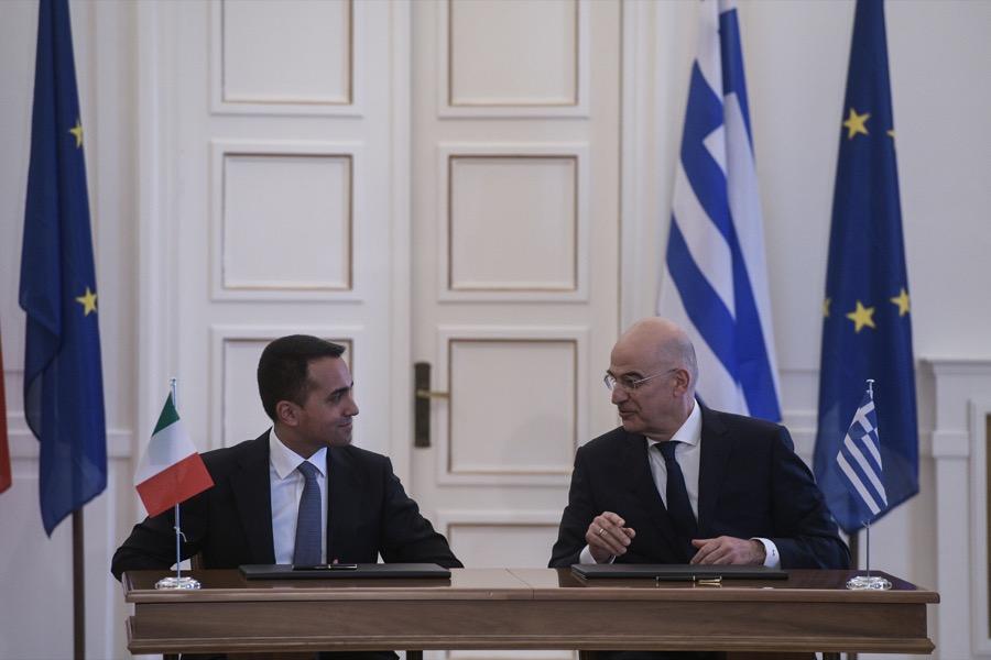 Συμφωνία Ελλάδας-Ιταλίας για τις θαλάσσιες ζώνες