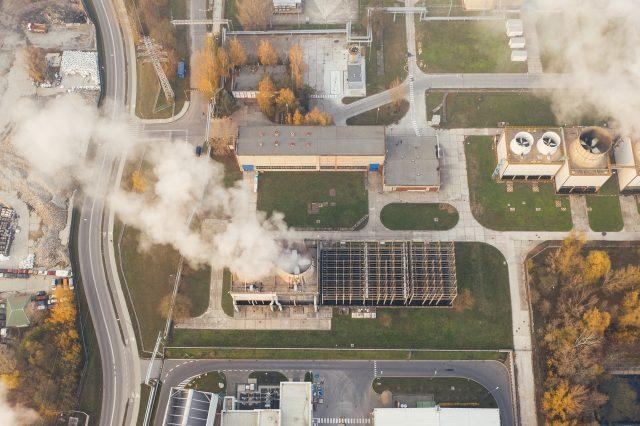 Καπνός, εργοστάσιο, φουγάρο