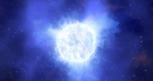 Μπλε αστέρι που εξαφανίστηκε. Καλλιτεχνική απεικόνιση.