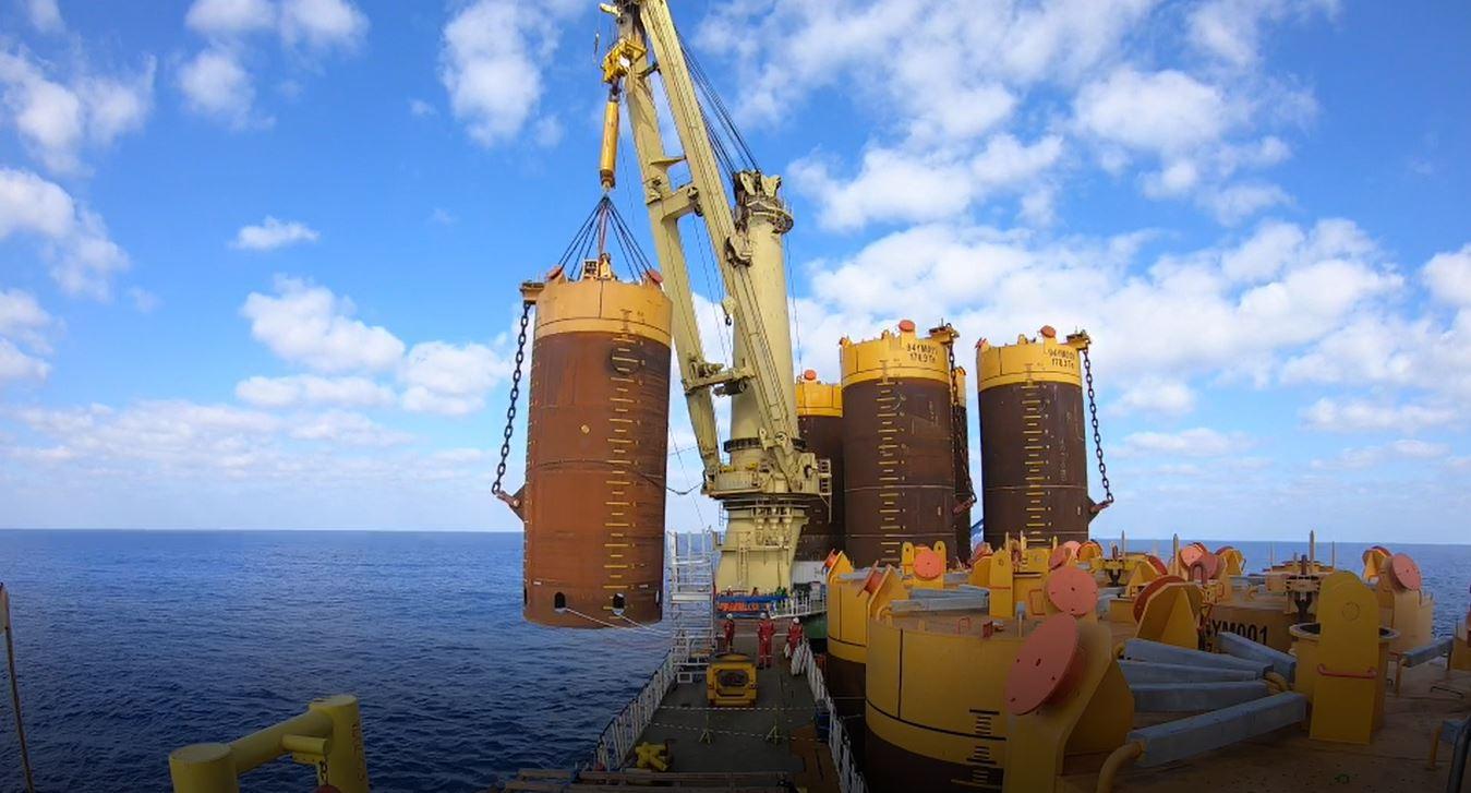 Από την εγκατάσταση των αγκυρών αναρρόφησης του FPSO Energean Power στο Ισραήλ Suction anchors installation, offshore Israel