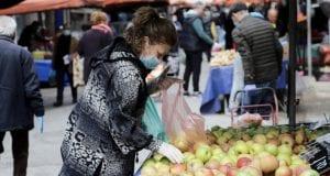 λαϊκή αγορά μάσκες