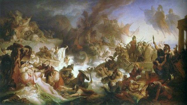 Kaulbach, Wilhelm von Die Seeschlacht bei Salamis 1868