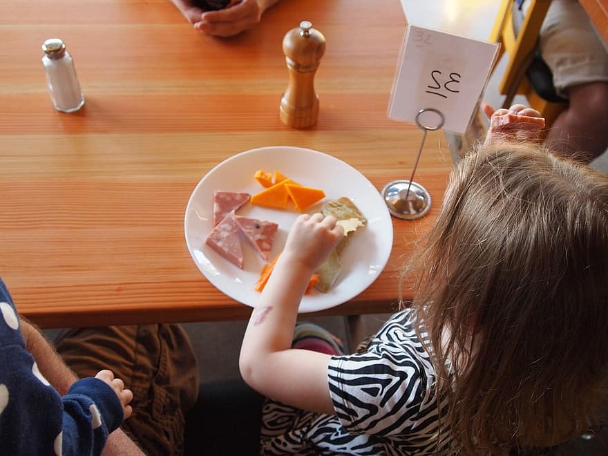 child eating kids childhood meal eat food enjoying children girl