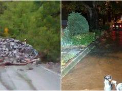 Καταστροφές στο οδικό δίκτυο και πλημμύρες στο Αγρίνιο και την Κέρκυρα