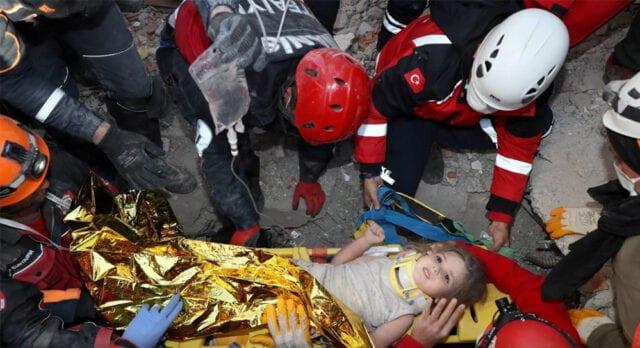 κοριτσάκι σεισμός