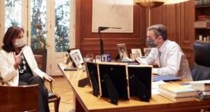 Συνάντηση Άννας Διαμαντοπούλου Κυριάκου Μητσοτάκη
