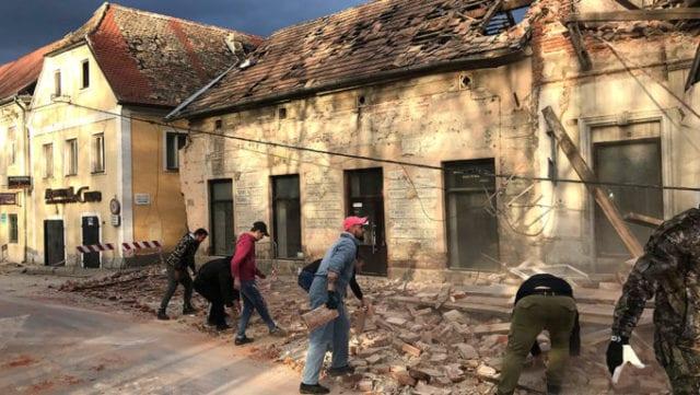 Croatia Earthquake Photo Sasa Kavic
