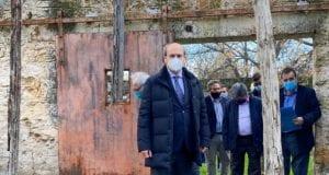 Κωστής Χατζηδάκης στην αυτοψία κτηρίου στο Μαρούσι 16.12.2020