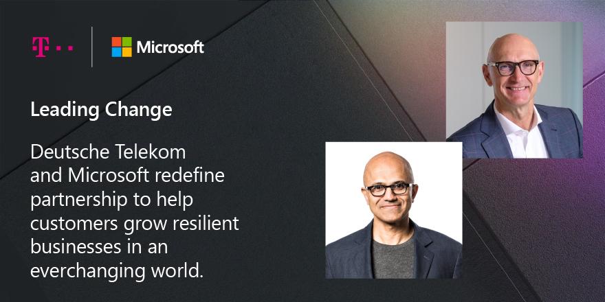 Visual COSMOTE Microsoft Höttges & Nadella