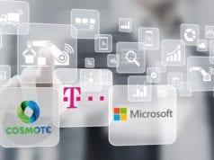 Visual COSMOTE Microsoft logos