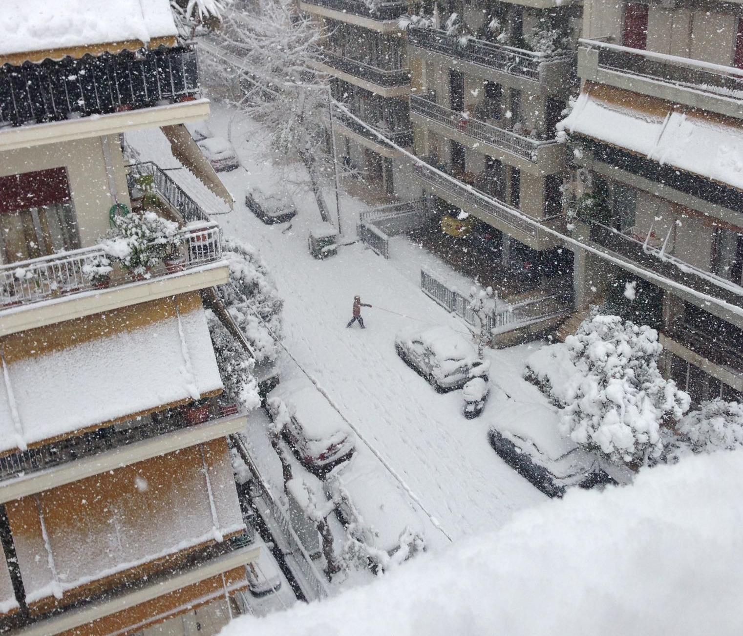 Αττική χιόνια