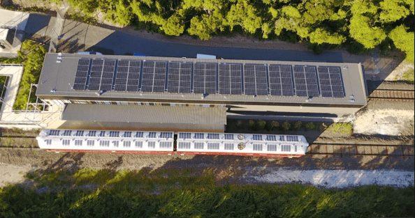 τρένα ηλιακή ενέργεια