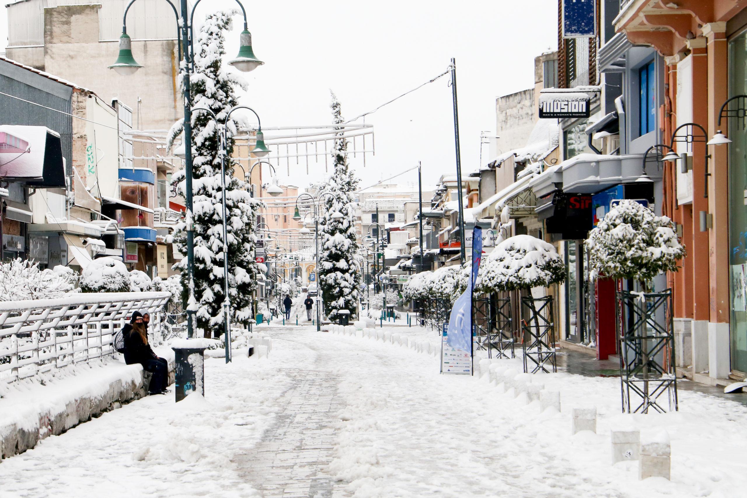 χιόνια Λάρισα