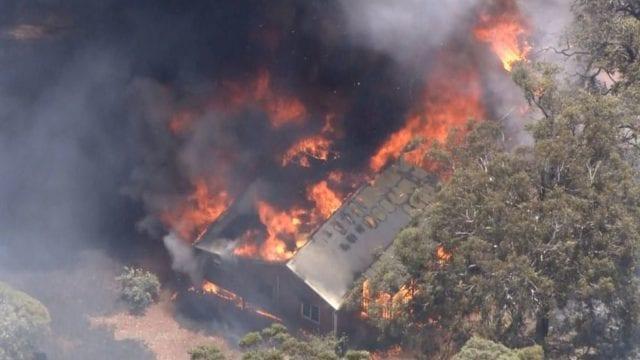 Perth on fire BBC 02 02 2021