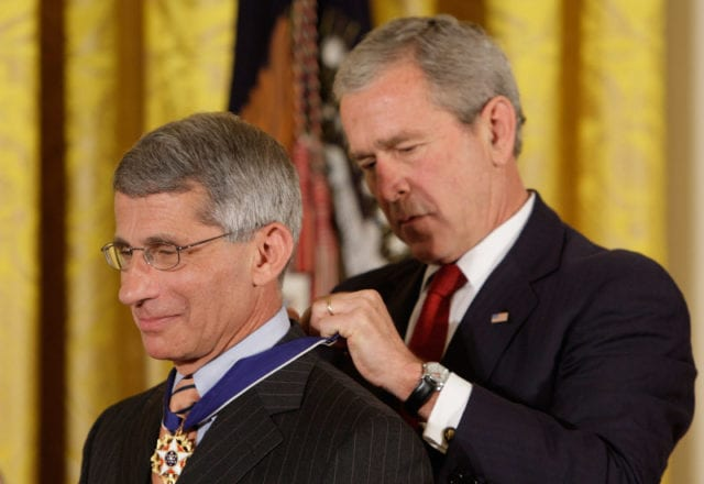 George W. Bush, Anthony S. Fauci