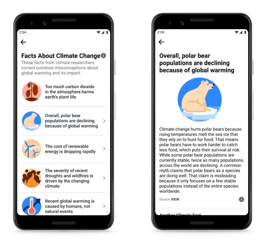 facebook κλιματική αλλαγή