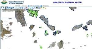 δασικοί χάρτες Κυκλάδες