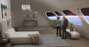 Διαστημικό ξενοδοχείο. Voyager Station. Προσομοίωση Courtesy of Orbital Assembly Corporation
