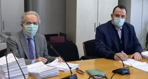 O Διευθύνων Σύμβουλος της Αττικό Μετρό Α.Ε. κ. Νικόλαος Κουρέτας και ο Πρόεδρος & Διευθύνων Σύμβουλος ΕΡΕΤΒΟ.ΑΕ Γεώργιος Ρωμοσιός
