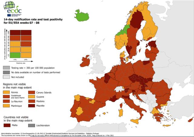 covid map eu