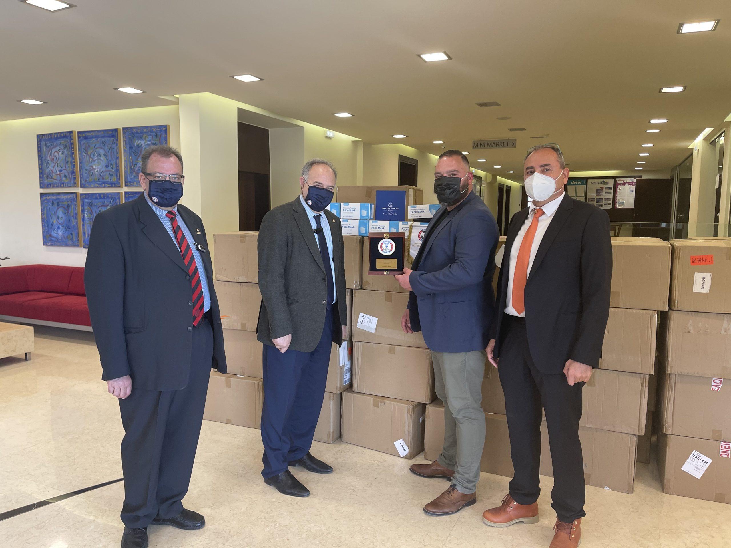 Donation 100000 maskes