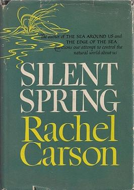 Silent Spring, First book cover, Source wikipedia