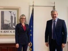 Πρόεδρος FIAVET Ivana Jelinic & Γ.Γ. ΕΟΤ Δημ. Φραγκάκης